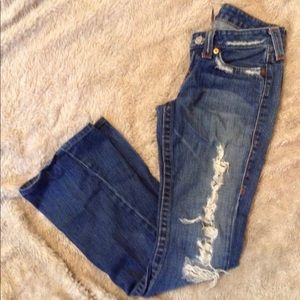 True religion distressed jeans size 5